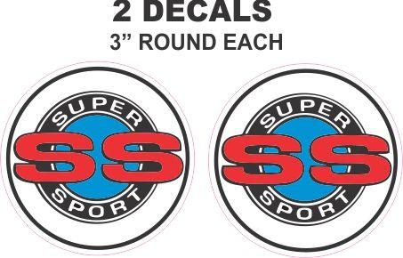 2 Chevrolet SS Decals