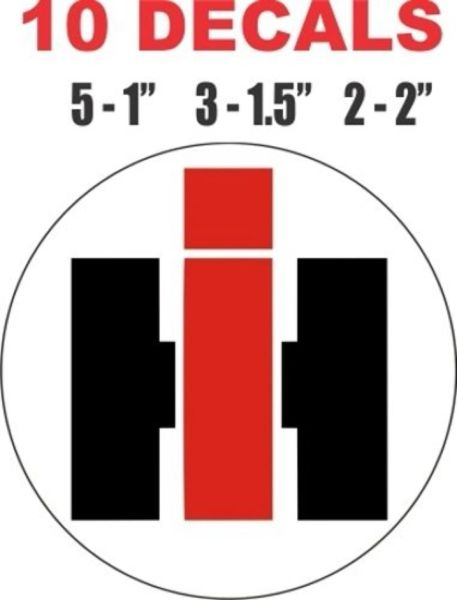 10 - IH International Harvester Decals - Various Sizes - Great For Scale Models and Dioramas