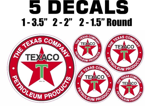 5 Texaco The Texas Company Petroleum Products