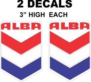 2 Alba Gasoline Oil Decals