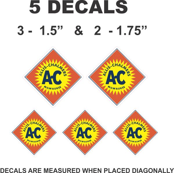 5 Allis Chalmers Decals - Scale Model Decals, Dioramas and More