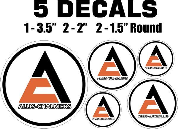 5 Allis Chalmers Decals