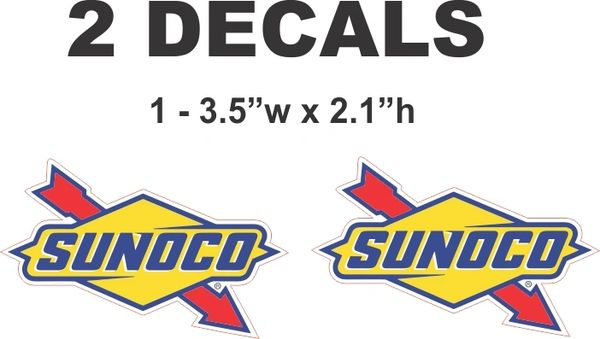 2 Sunoco Decals