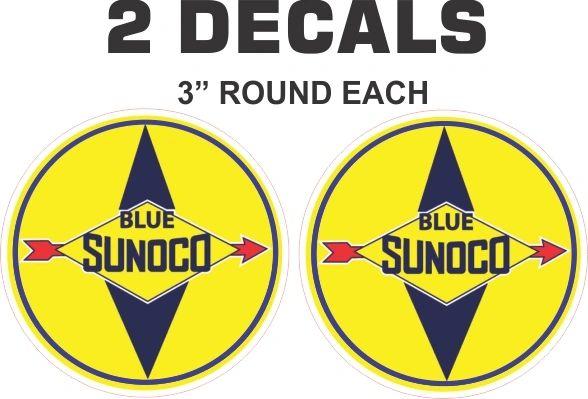 2 Sunoco Blue Decals
