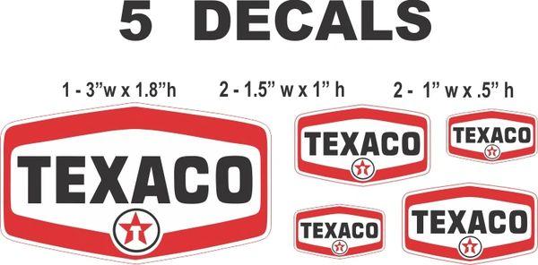 5 Texaco Oval Decal - Nice