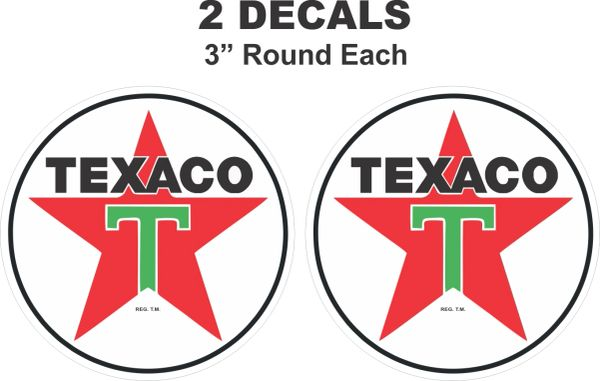 2 Texaco Decal - Nice and Sharp