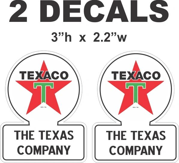 2 Texaco The Texas Company - Very Nice as with all my Decals