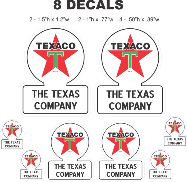 10 Decals Texaco The Texas Company