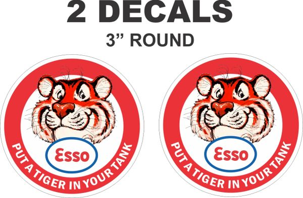 2 Esso Gasoline Round Put A Tiger In Your Tank