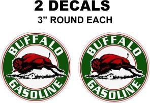 2 Buffalo Gasoline Decals