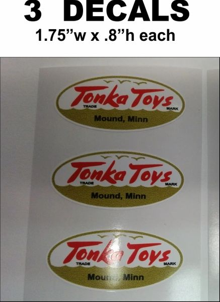 3 Tonka Decals White / Gold