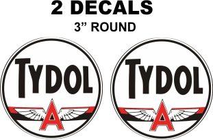 2 Tydol Flying A Decals