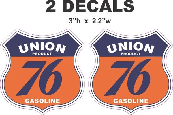 2 Union 76 Decals