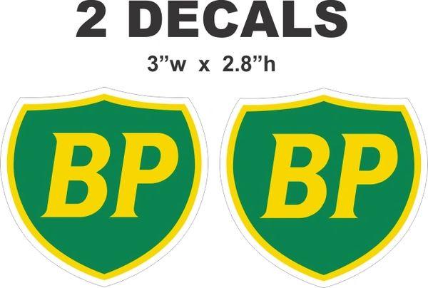2 BP British Petroleum Decals