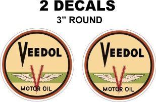 2 Veedol Motor Oil Decals