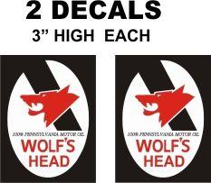 2 Wolf's Head 100% Pennsylvania Motor Oil