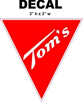 Tom's Roasted Peanuts Decal