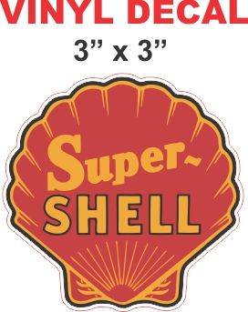 Red Super Shell Decal Very Nice