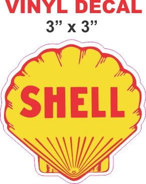 Yellow Shell Gasoline Decals