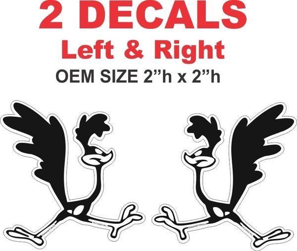 2 Road Runner OEM Size Decals - Very Nice