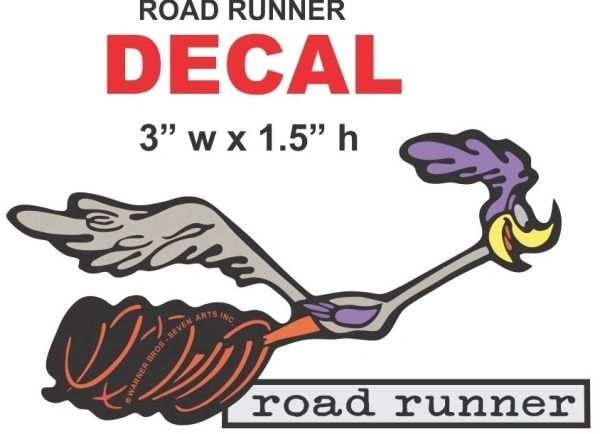 Mopar Road Runner Trunk Decal - Very Nice with Full Correct Colors