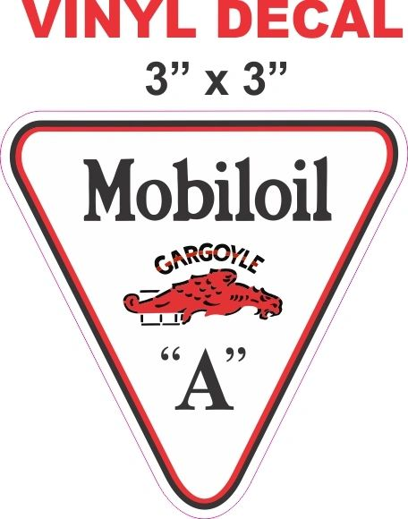 Mobiloil Mobil Oil Triangle Decal - Sharp