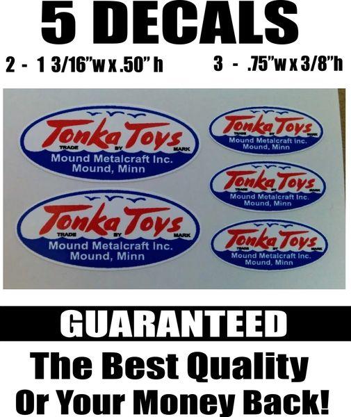 5 Tonka Toys Blue and White Mound Minn Mound Metalcraft Inc - Crisp and Sharp