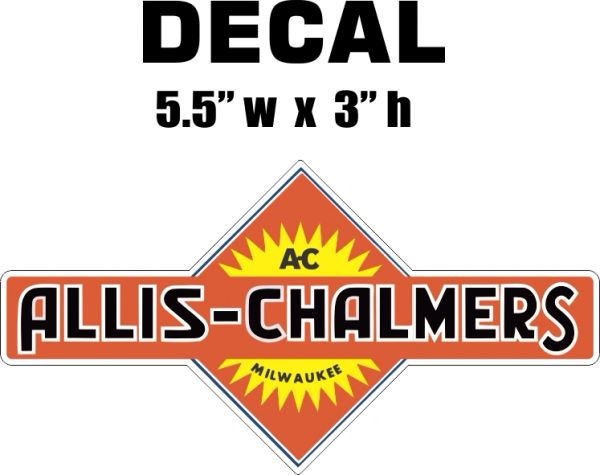Allis Chalmers Tractor Decal
