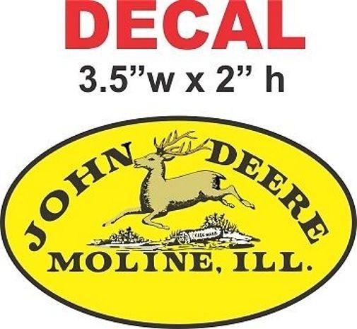 1 John Deere Hooper Decal - Very Nice