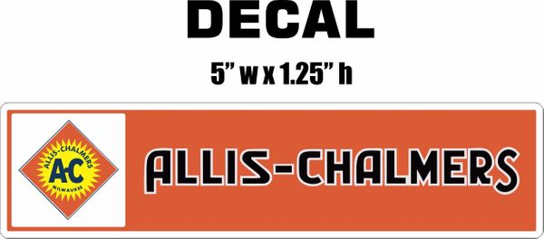 Allis Chalmers Decal