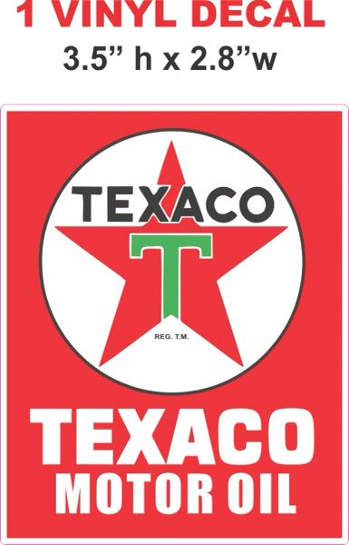1 Red Texaco Motor Oil Decal - Nice and Sharp