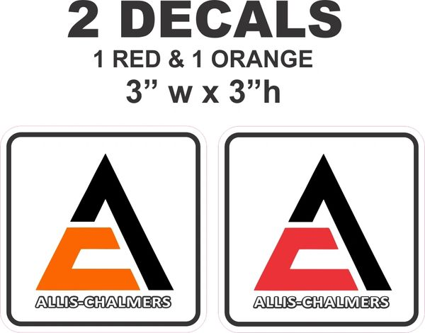 2 Allis Chalmers Decals - Very Nice
