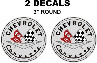 2 Chevrolet Corvette Grey Background Decals