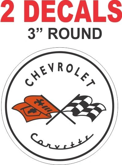 2 Chevrolet Corvette Cross flag ecals - Nice!