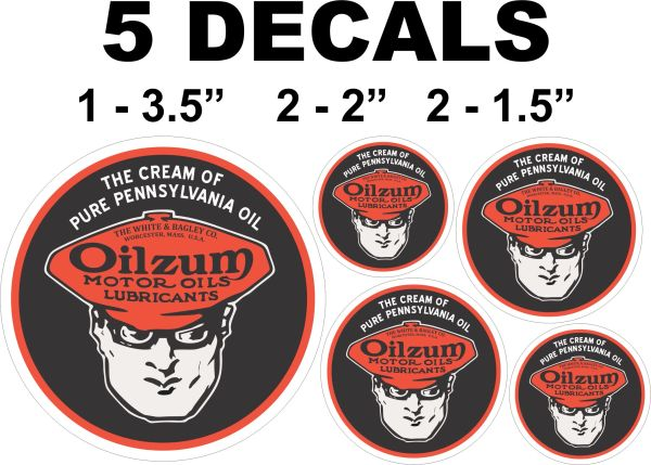 5 Oilzum Cream 0f Pure Pennsylvania Oil Decals 0 Nice