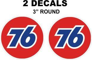 2 Decals 76 Gasoline - Vivid abd Sharp