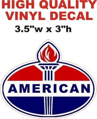 American Gasoline Oval Shape and Die Cut Correctly