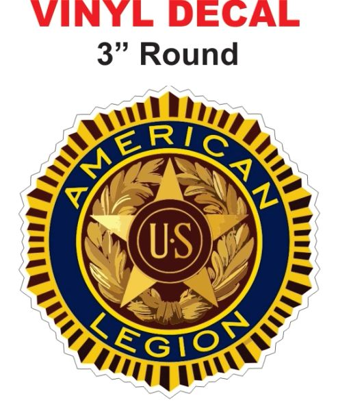 American Legion Decals - Very Sharp and Die Cut Correctly as it should be.