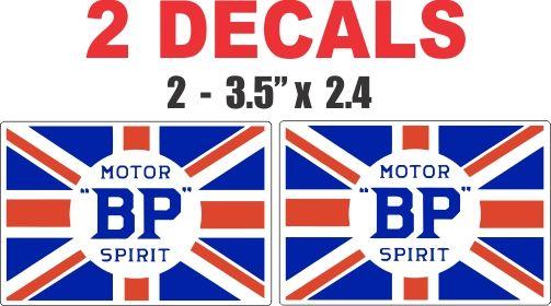 2 BP Motor Spirit Decals
