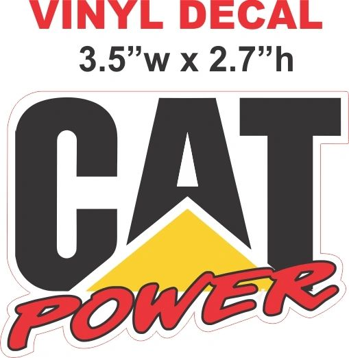 Catepillar Cat Power Decal - Nice