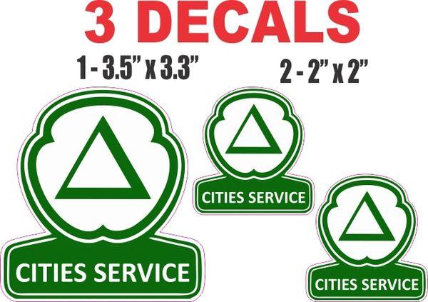 3 Cities Service Decals