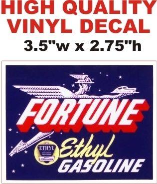 1 Fortune Ethyl Gasoline Decal - Nice