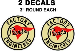 2 Pontiac GM Factory Engineered Parts Decals