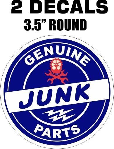 2 Nice Genuine Junk Parts Decals