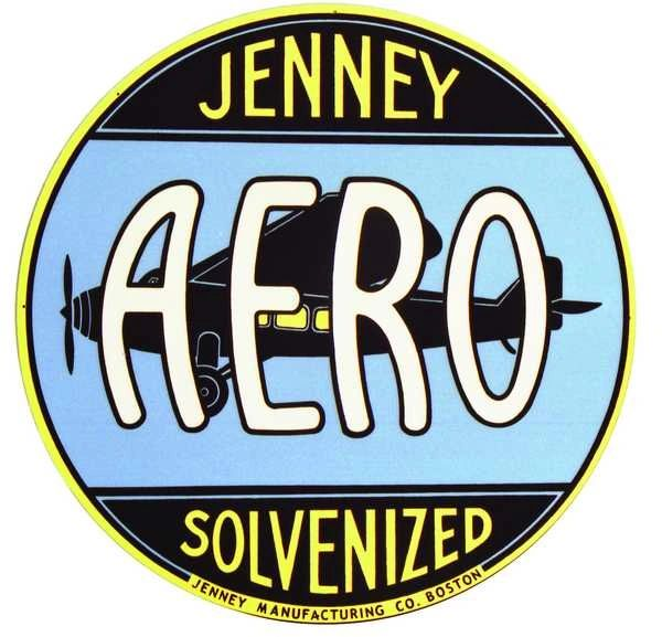 "1 Jenny Aero Solvenizer Decal - 3.5"" Round"