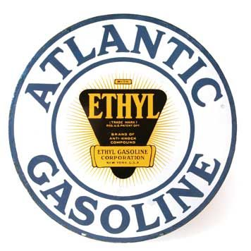 "Atlantic Ethyl Gasoline - 3.5"" Round"