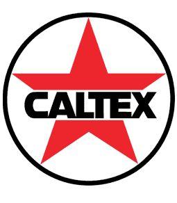 """Caltex Gasoline Decal - 3.5"""" Round"""