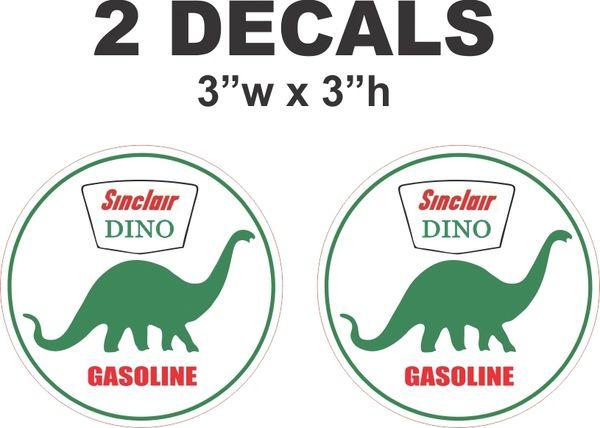 2 Dino Sinclair Gasoline Decals