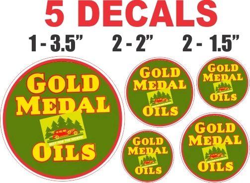 5 Gold Medal Oils Decals
