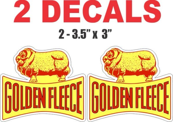3 Golden Fleece Decals